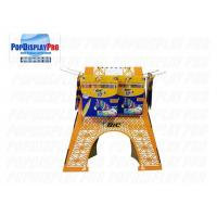 Buy cheap 4 Side Cardboard Display Stands Eiffel Tower Shaped 24 Hooks For BIC Stationery Pencils product