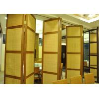 Folding Hanging Sliding Door , 65mm Training Room Folding Partition