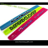 Buy cheap new logo oem custom silicon slap wristband,brand name printed anti mosquito slap from wholesalers