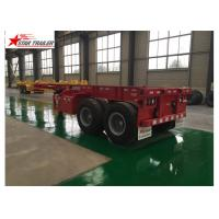Buy cheap 2 Axles 40ft Container Trailer , Skeleton Terminal Shipping Container Chassis from wholesalers