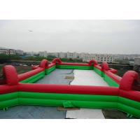 Buy cheap Commercial Inflatable Football Game / Soccer Field Sports Equipment With 0.45mm - 0.55mm PVC product