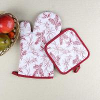 Buy cheap Leaves Printed Heat Resistant Microwave Professional Oven Gloves Pot Holder product