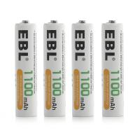 Buy cheap AAA 1100mAh High Capacity Rechargeable Cell Batteries Ni - MH 1.2V 4 Pack 1200 Cycles product