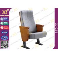 Buy cheap Commercial Molded PU Foam Auditorium Chairs With Floor Mounted Fabric Cover product