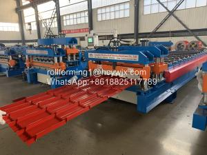 Buy cheap Glazed Steel Tile Roll Forming Machine 220V 60Hz 3 Phase product
