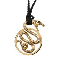 Buy cheap 18K Yellow Gold Snake Pendant Necklace With 90 Cm Total Length / 48.5 Gr product