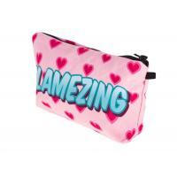 Polytester Waterproof Zippered Cosmetic Bag , Small Makeup Brush Bag For Lady