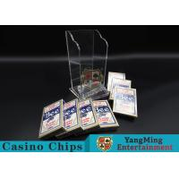 Buy cheap Plastic Casino Game Accessories For Wide Cards , Playing Card Dealer Shoe  product