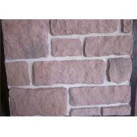 Buy cheap Decorate Fake Stone Wall Tiles , Faux Rock Wall Covering Solid Surface product