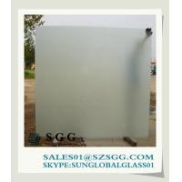 China acid etched glass opaque glass for construction on sale