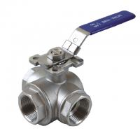 """Buy cheap 1/2 to 2 inch Stainless Steel 304 316 flow Control """"T"""" """"L"""" 3 way diverter ball from wholesalers"""