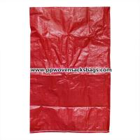 Customized Red PP Woven Bags / 25kg PP Sacks for Packing Plastic Pellets / Food / Chemical