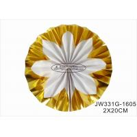 Hot Gold Foil Paper Fan Wedding Decorations With Vibrant Bright Colors