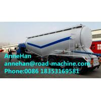 Buy cheap 60M3 Polyurethane Painting Bulk Cement Transport Truck With #50 #90 Fifth Wheel product