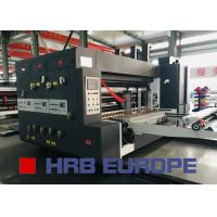 Buy cheap Lead Edge Flexo Printing Die Cutting With Slotting Combined Machine product