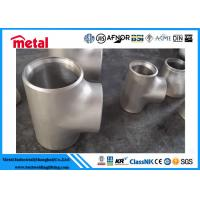 Buy cheap Stainless Hastelloy C276 Pipe Fittings , Seamless Stainless Steel Equal Tee from wholesalers