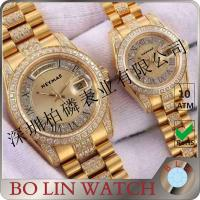 Buy cheap Japan Movement Automatic 18K Solid Gold Watches For Couple Water Resistant product
