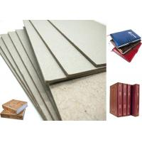 China Hard Laminated Paper And GSM Grey Chipboard For Bookcover , 1.2mm Thickness on sale