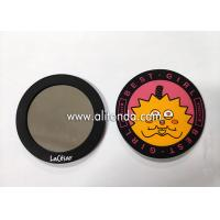 Buy cheap Promotional pvc silicone mini makeup mirror custom advertising gifts small cartoon cute animal mirror wholesale product