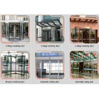 Buy cheap Glass holder Automatic Glass Sliding Doors With Aluminum Alloy Material W 800mm product