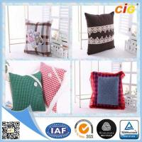 Buy cheap Plain Natural Linen Cushion Cover / Chair Seat Pillow with Custom Color and Size product