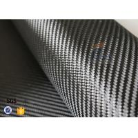 China 3K 240gsm Carbon Fiber Cloth Twill Weave Decoration Silver Coated Cloth on sale