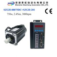 Buy cheap 750W 2.4nm 3000rpm Ac Servo Motor And Driver And Amplifier And Cables For Total from wholesalers