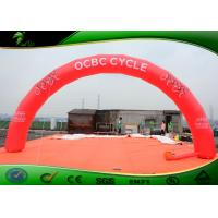 Buy cheap Durable PVC Inflatable Arches / Red Advertising Inflatable Archway 10 * 4M product