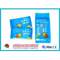 Buy cheap Individual Packaging Wet Wipes 1PCS* 10/Bag Fragrance Free Cotton-like Texture product