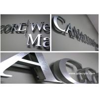 Buy cheap Wall mounted 3d stainless steel decorative metal letters for advertising from wholesalers