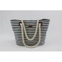 Buy cheap Ladies Striped Baby Diaper Bag With Rope Handle Stain Resistant And Durable product