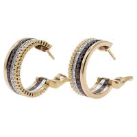 Buy cheap Quatre Classic Boucheron Jewelry Ceramic Small Gold Hoop Earrings For Women from wholesalers