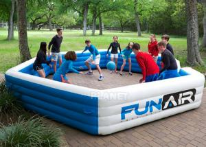 Buy cheap Funny Portable Interactive Inflatable Gaga Ball Pit / Inflatable Gaga Ball Court For Kids Outdoor Games product