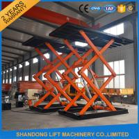 Buy cheap Underground Parking Car Storage Lifts Mobile Car Scissor Lift Hydraulic System from wholesalers