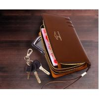 Buy cheap Genuine Leather Mens Wallet Card Holder Hand Clutches Bag product