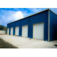 Buy cheap Blue Light Steel Structure Building With Sandwich Panel / Prefab Metal Buildings product