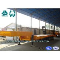 Buy cheap Low Gravity 3 Axles Hydraulic Low Bed Trailer With Hydraulic Crawling Ladder product