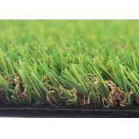 China 4 Tone UV Resistant Landscaping Fake Grass For Crafts 25mm U Shape 12000 Density on sale