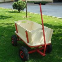 Buy cheap Children's wooden wagon, 100kg load capacity product