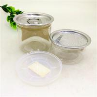 Buy cheap FDA Clear Plastic Cylinder , 50ml Dried Cannabis Cans Aluminum Peel Off Food Jar from wholesalers