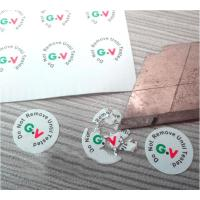 Buy cheap High Brittle White Security Labels Stickers Strong Adhesive Difficult Remove For Screw product