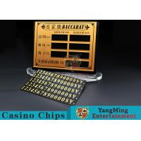 Buy cheap Baccarat Poker Table Pure Copper Material  Entertainment Bet Card Casino Table Limit Sign With Magnet Sticking product