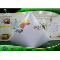 Quality Large Triangle Inflatable Water Marker buoy Balloon / Inflatable White Buoy for sale