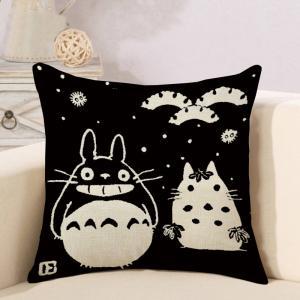 Buy cheap Cute Blue Elephant Print Throw Pillow Case Cover Decorative Kids Decor Geometric Animal Cushion 18x18 Cotton Linen product