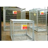 Buy cheap Folding Steel Stackable Pallet Cages For Supermarket Gas Bottle Storage from wholesalers