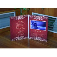 Buy cheap Luxury wedding invitation card 7inch screen video greeting card with A4 size paper card battery operated product