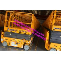 6-15m 1871m Wheelbase 10m Height Electric Scissor Yellow Color Aerial Working Platform