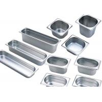 Buy cheap 201 Stainless Steel Kitchen Equipment , GN Pan Stainless Steel Gastronorm Pan product