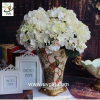 Buy cheap UVG FHY22 White decorative fabric flower artificial hydrangea for wedding table decoration product