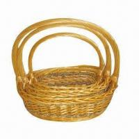 Buy cheap Fruit basket, wicker material, 3pcs/set, beauty and fashionable, suitable for gifts product
